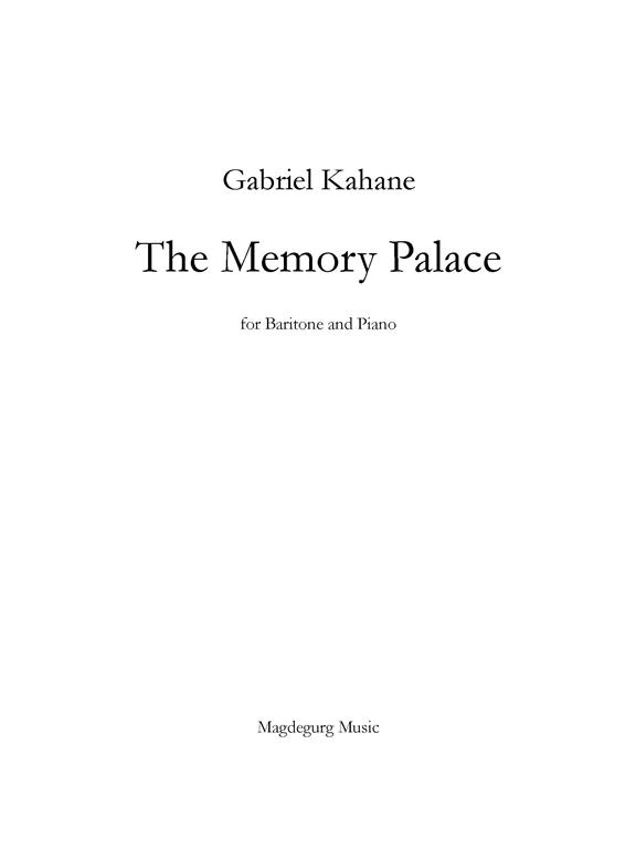 The Memory Palace [511] - $30 00 : Bill Holab Online Music Store